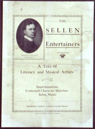The Sellen Entertainers - A trio of literary and musical artists 2